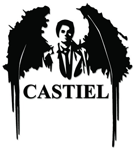Castiel Supernaturals Angel Death Vinyl Decal Sticker For Vehicle Car Truck Window Bumper Wall Decor - [6 inch/15 cm Tall] - Matte WHITE Color (Supernatural Car Window Decal compare prices)