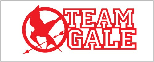 Hunger Games Team Gale Mocking Jay Sticker Decal. Red