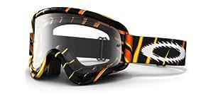 Oakley O-Frame MX Goggles with Clear Lens (Razors Edge Orange/Yellow/Black)