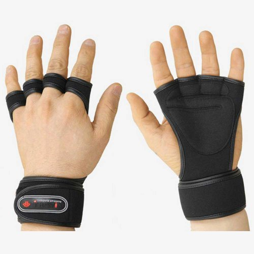 GYM Weight Lifting Gloves Health Fitness Dumbbell Wrist Wrap (Black, M (for women))