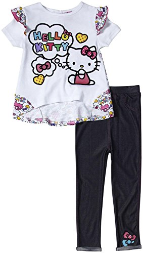 Hello Kitty Little Girls' 2 Piece Jegging Set (Toddler) - Arctic White - 3T front-899038