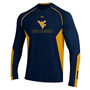 West Virginia Mountaineers Mens Under Armour Half Zip Pullover Jacket in Navy by Under Armour