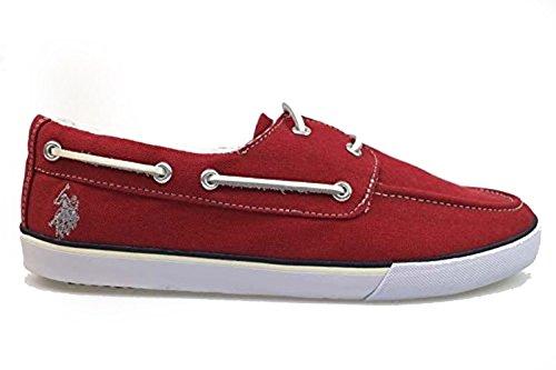 scarpe uomo U.S POLO ASSN. mocassini rosso tessuto AP271 (44 EU)