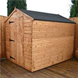OXFORD: 8FT x 6FT WINDOWLESS TONGUE & GROOVE APEX SHED WITH LARGE DOOR (Solid 10mm OSB Floor))**EXTENDED DELIVERY TYPICALLY 10 WORKING DAYS AS TREATED AS SPECIAL