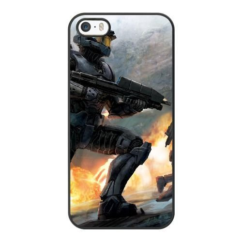 ZAE Made Phone Case with Free Screen Protector [Tempered Glass]Fighter Halo Cover Black Case for iPhone 5 5S.BBF-47445