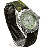 Mens Green Terrain Boardrider Sports Army Watch-Velcro Strap+Rotating Bezel-50m Water Resitant-1309g