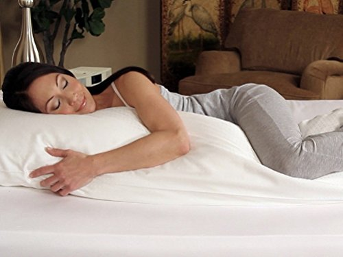 """High Quality - 20 X 54""""- Body Pillow - Feather & Down - Exclusively By Blowout Bedding Rn# 142035 front-1026424"""
