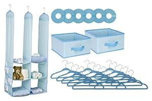 Delta 24 Piece Nursery Closet Organizer, Blue by Delta