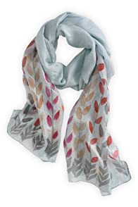 Asian Eye Fair Trade Silk Prima Scarf (Grey)