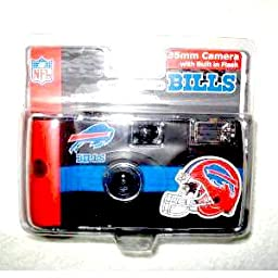 Buffalo Bills Plastic Disposable 35mm Camera with 27 Exposures