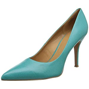 Nine West Women's Flax New Hollywood Dress Pump,Turquoise Leather,10.5 M US