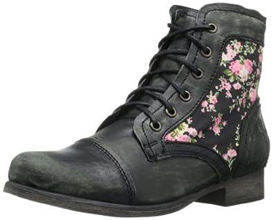 Steve Madden Women's Trustt Ankle Boot,Black Multi,5 M US
