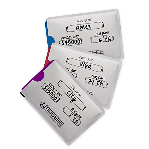 Moseeg RFID Sleeves for Credit Cards, Pack of 5 (RF5) | inexpensive ...
