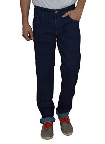 Studio Nexx Men's Denim Regular Fit Jeans (Dark Blue, Size - 30)  available at amazon for Rs.729