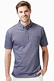 Button-Down Collar Polo Shirt