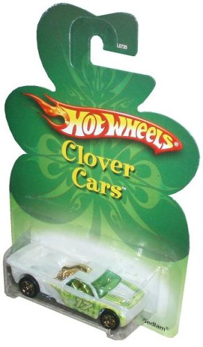 Mattel Hot Wheels 2006 St. Patrick Clover Cars Series 1:64 Scale Die Cast Metal Car L5735 - White/Green Pick-Up Truck BEDLAM with Gold HEMI Engine - 1