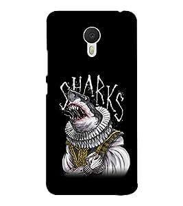 EPICCASE sharks Mobile Back Case Cover For Meizu M3 Note (Designer Case)