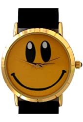 Smiley Face watch. Unisex size suitable for men and women of approx. 1.5 inches.