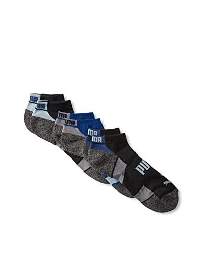 PUMA Men's P105378ZZ012 3 Pack All Sport Low Cut Socks, White/Grey/Yellow, One Size