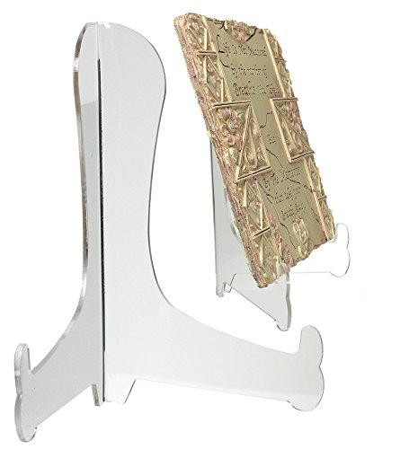 Clear Acrylic Fixed Position Easels - Set of 2 - 9 Inch Easels - Picture Display Stands - Plate Stands - Book Stands - Easel (Display Easel Acrylic compare prices)