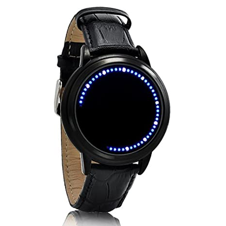 White-Blue-LED-Touch-Screen-Watch