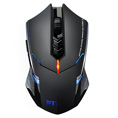 [New Version]VicTsing® Professional LED Optical 2000 DPI Wireless Gaming Mouse Mice for gamer Adjustable DPI Switch Function 2400DPI/1600DPI/1200 DPI /800 DPI For Notebook PC Laptop Computer