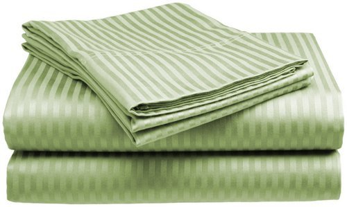 King Size Sage Classic Sateen Dobby Stripe Sheet Set
