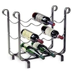 Enclume WSR1B 12-Bottle Wine Storage Rack, Hammered Steel