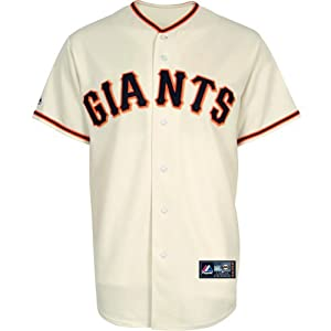 MLB Mens San Francisco Giants Hunter Pence Home Replica Baseball Jersey by Majestic