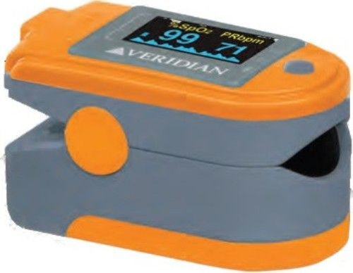 Cheap Veridian Healthcare 11-50DP Premium Pulse Oximeter, Accurately measures oxygen saturation of arterial hemoglobin and pulse rate, Wide range of finger sizes from pediatric to adult, Dual color OLED display with adjustable screen brightness, Display Blood-Oxygen Saturation (SpO2), Pulse Rate and Pulse Bar (11-50DP)