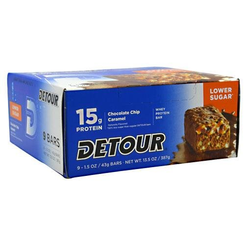 Forward Foods Detour Whey Protein Bar Chocolate Chip Caramel -- 15 g - 9 Bars (Bar Nine Coffee compare prices)