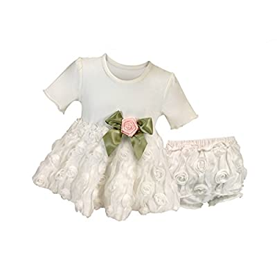 Stephan Baby Girl's Night Out Chiffon Rosette-skirted Set, 3-6 Months