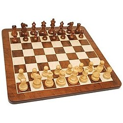Sheesham/Kari Chess Set w Walnut (19