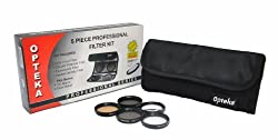 Opteka 28mm High Definition Professional 5 Piece Filter Kit includes UV CPL FL ND4 and 10x Macro Lens