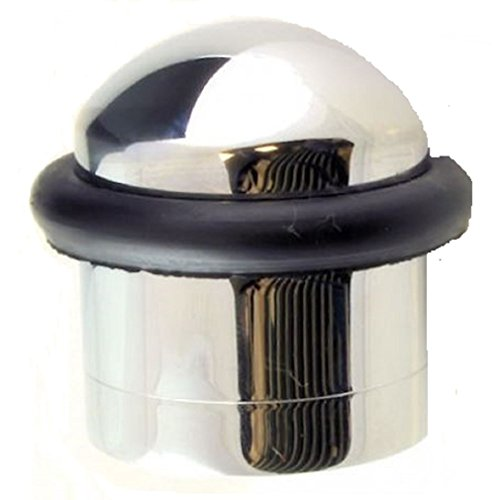 Solid Domed Top Floor Mounted Concealed Fix Door Stop - 32mm Diameter (Polished Chrome) by Carlisle Brass
