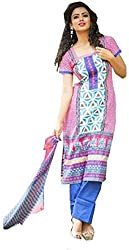 Creative Collection Wool Printed Salwar Suit Dupatta Material (Un-stitched)