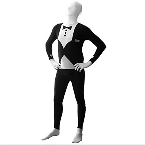 Muka Tuxedo Zentai Supersuit Costume Full BodySuit, Valentine's Gift Idea