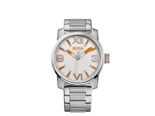 Boss HB-1512984 - Reloj de cuarzo para hombre, correa de acero inoxidable color plateado