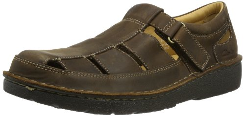 Clarks Nature Open Sandals Mens Brown Braun (Tobacco Nubuck) Size: 7 (41 EU)