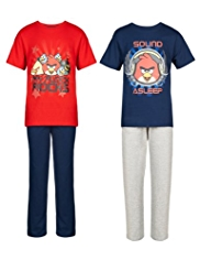 2 Pack Cotton Rich Angry Birds™ Pyjamas