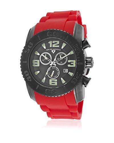 Swiss Legend Men's 10067-GM-014-RDS Commander Red/Grey Silicone Watch