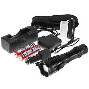 iiMash® UltraFire 1800LM CREE XM-L T6 LED 12W Lamp De Poche Torche Zoomable SET