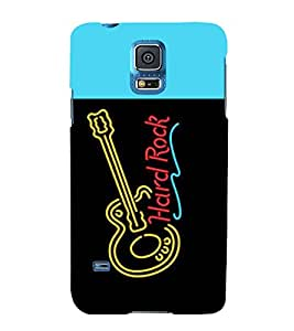 printtech LED Hard Rock Guitar Back Case Cover for Samsung Galaxy S5 G900i::Samsung Galaxy S5 i9600::Samsung Galaxy S5 G900F