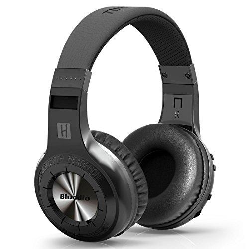 Bluedio H-Turbine Bluetooth Stereo Headphone Wireless Headphones Bulit-In Microphone Bt4.1 Headset Powerful Bass Enjoy Your Music Over-Ear Headphones -Retail Package Global Release (Black)