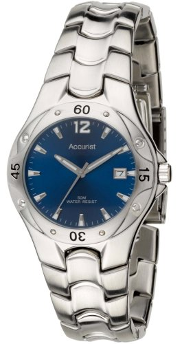 Accurist MB650N Gents stainless steel bracelet watch with navy dial