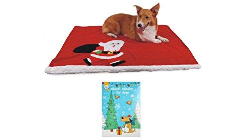 HEIM-Hunde-Decke-Weihnachts-Set-100-cm-100-cm-70-cm-rot