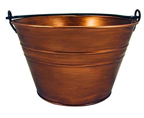 BREKX Old Tavern Copper Finish Antique Bucket 0