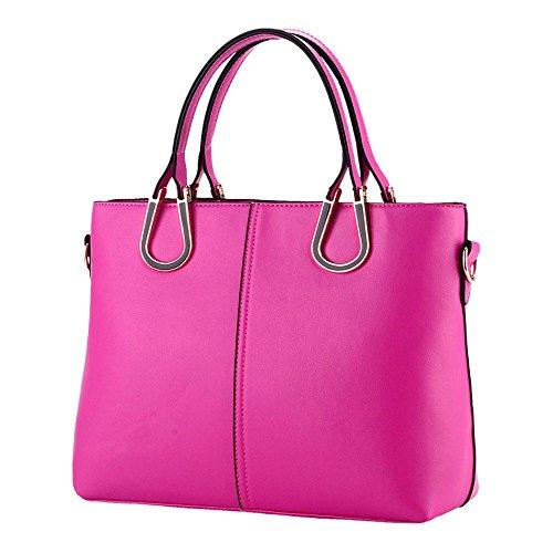 koson-man-damen-sling-vintage-tote-taschen-top-griff-handtasche-pink-rosarot-kmukhb266
