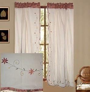 Jcpenney vintage floral curtain set 63l window treatment curtains - Jc penny kitchen curtains ...
