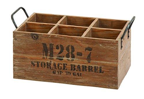 Wooden Barrel 6-Wine Crate (Wine Barrel Wood compare prices)